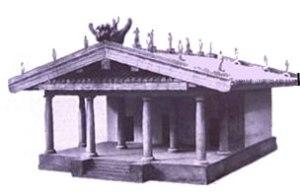 Modellino del santuario del Portonaccio a Veio