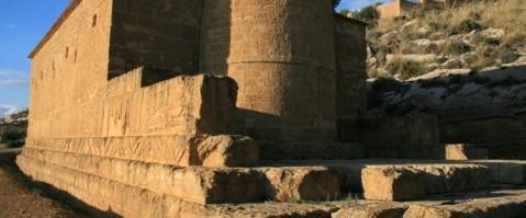 Un particolare delle vestigia del tempio di Demetra ad Agrigento
