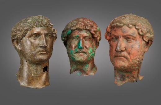 I tre ritratti in bronzo dell'imperatore Adriano in mostra a Gerusalemme sono gli unici pervenutici dall'antichità