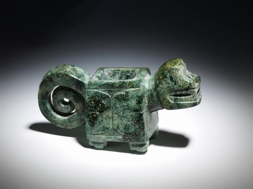 Mortaio zoomorfo della cultura valdivia dall'Ecuador (2000-1000 a.C.) tra i pezzi pregiati in mostra