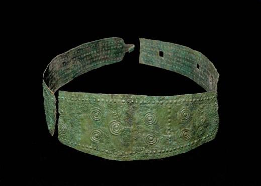 Il cinturone in bronzo della principessa di Collaatia esposto alle Terme di Diocleziano