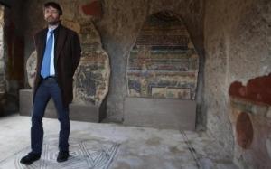 Il ministro Dario Franceschini a Pompei