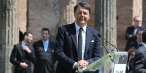 Il premier Matteo Renzi per la seconda volta a Pompei in un anno