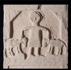 La stele del cavaliere Marco Licinio Fedele (foto di Gianluca Baronchelli)