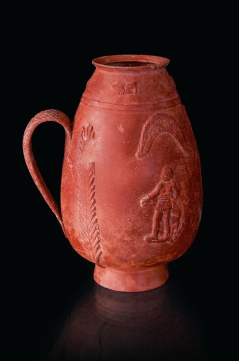 Brocca in ceramica sigillata proveniente dalla necropoli di El Aouja (foto di Gianluca Baronchelli)