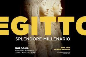 Il manifesto della mostra al museo archeologico di Bologna