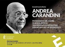 Al Piccolo Eliseo di Roma gli incontri di Andrea Carandini