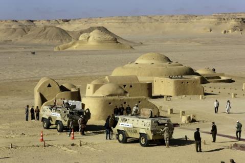 La forma arrotondata del Museo dei Fossili e dei cambiamenti climatici di Wadi el Hitan
