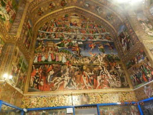 """Il """"Giudizio universale"""" nella cattedrale armena di Vank a Esfahan (Iran)"""