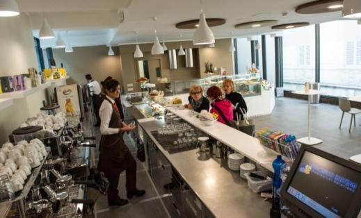 La nuova caffetteria del museo Egizio di Torino (Foto Daniele Solavaggione)