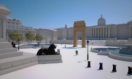 Una copia dell'arco del tempio di Bel a Palmira ''sorgerà'' a Trafalgar Square: ricostruita con la più grande stampante 3D al mondo