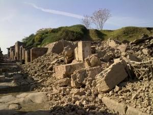 La domus dei Gladiatori crollata in via dell'Abbondanza