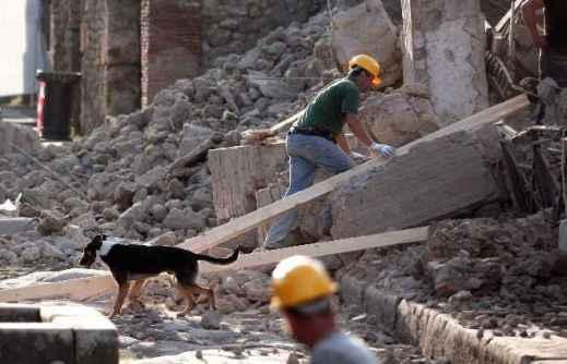 6 novembre 2010: a Pompei è crollata la Domus dei Gladiatori, dove si allenavano gli atleti nell'antica Pompei