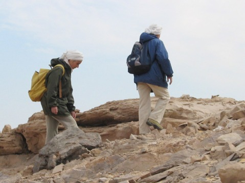 Ricognizione degli archeologi nell'ambito del progetto Akap nella regione di Assuan