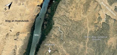 La regione di Assuan interessata dall'Aswan-Kom Ombo Archaeological Project (Akap) condotto dalle università di Bologna e Yale