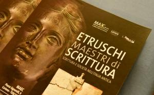 """Il manifesto del progetto-mostra """"Etruschi maestri di scrittura"""""""