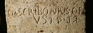 Un'iscrizione etrusca in mostra a Cortona