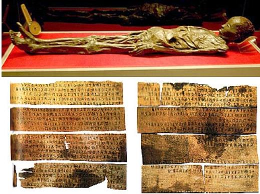L'ospite d'onore della mostra: la mummia di Zagabria e il Liber Linteus