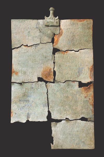 La Tabula Cortonensis, atto giuridico, la terza iscrizione etrusca per lunghezza finora conosciuta