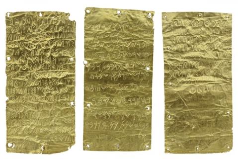 Le lamine auree di Pyrgi con un testo bilingue: etrusco e fenicio