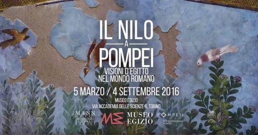 """Il manifesto della mostra """"Il Nilo a Pompei"""" aperta fino al 4 settembre 2016 al museo Egizio di Torino"""