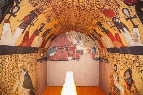 La tomba di Pashedu ricostruita da Gianni Moro, artigiano di Motta di Livenza