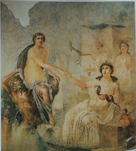 Affresco proveniente dal tempio di Iside a Pompei