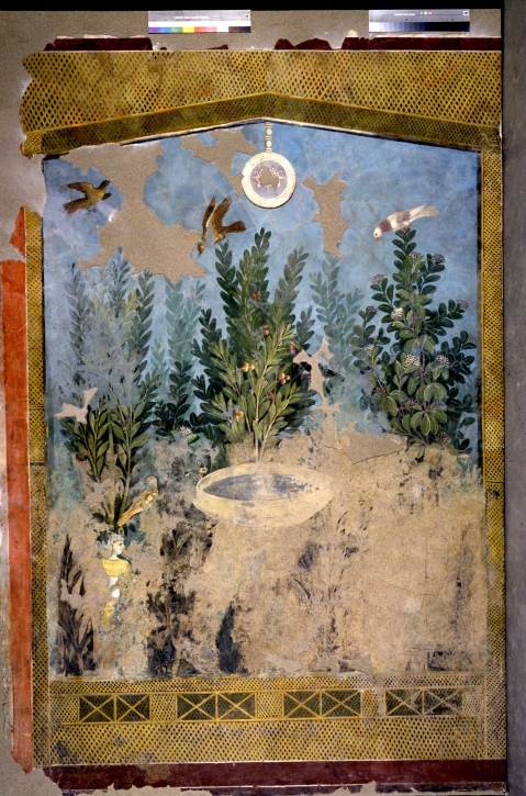 """""""Il Nilo a Pompei"""": affresco dalla Casa del Bracciale d''Oro, esposto nella mostra al museo Egizio di Torino"""
