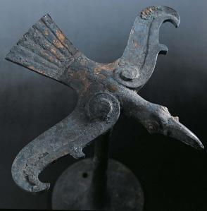 Una fenice in bronzo dal museo di Hubei (Cina)