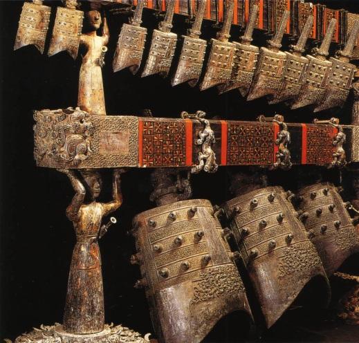 Le campane in bronzo della tomba del Marchese Yi di Zheng, scoperta nel 1978 in Cina