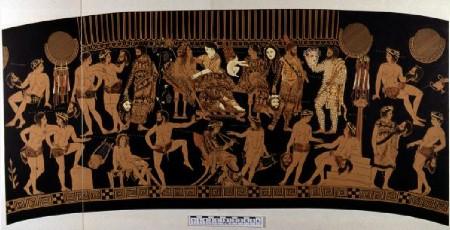 Le raffigurazioni del vaso di Pronomos nel loro sviluppo orizzontale