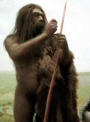 Una ricostruzione a disegno dell'Uomo di Altamura che visse 150mila anni fa