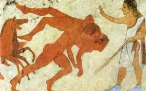 Affreschi nella Tomba della Scimmia di Chiusi