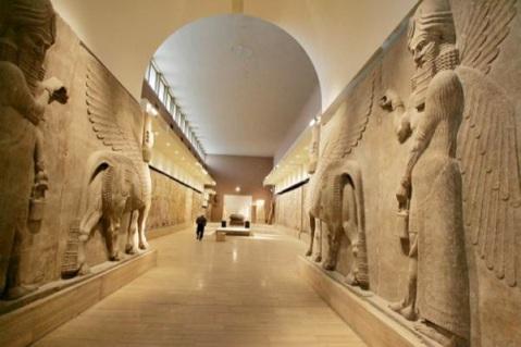 L'Iraq Museum di Baghdad dopo il restauro e la riapertura nel 2008