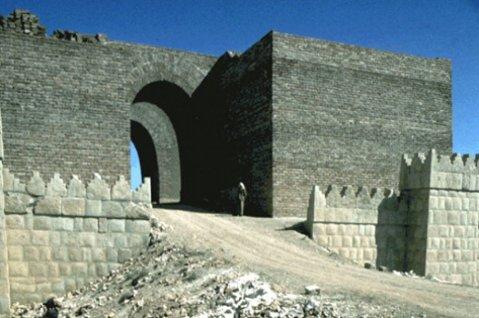 La monumentale porta di Mashki dell'antica Ninive, nel Kurdistan iracheno