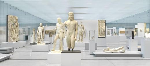 La grande galleria della sede distaccata del museo del Louvre a Lens