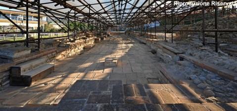 L'area archeologica di via degli Scavi a Montegrotto con un grande complesso termale