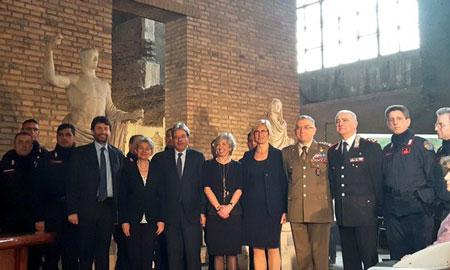 Autorità civili e militari alla presentazione a Roma dei Caschi blu della cultura