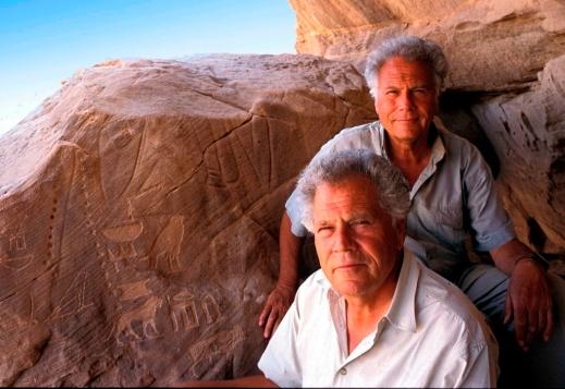 I fratelli Alfredo e Angelo Castiglioni insieme in una delle loro esplorazioni in Africa