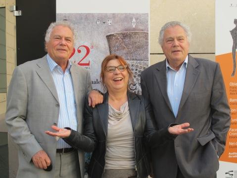 Angelo e Alfredo Castiglioni tra Siusy Bladi alla rassegna internazionale del cinema archeologico di Rovereto