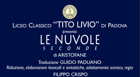 """La locandina de """"Le nuvole. Seconde"""" di Aristofane per la regia di Filippo Crispo"""