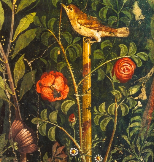 Le rose di Pompei in un affresco dalla domus del Bracciale d'Oro a Pompei