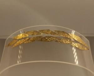Una corona d'oro esposta nel nuovo museo archeologico di Reggio Calabria