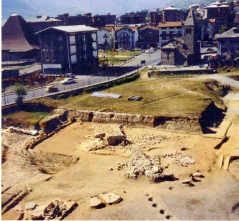 L'area di Saint Martin de Corleans durante gli scavi negli anni Ottanta del Novecento