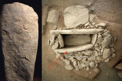 Stele antropomorfa e dolmen dell'area megalitica di Aosta