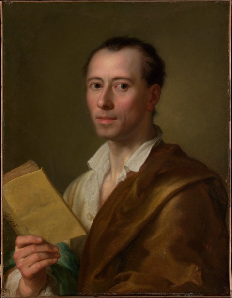 Lo storico dell'arte tedesco Johann Joachim Winckelmann, padre dell'archeologia moderna