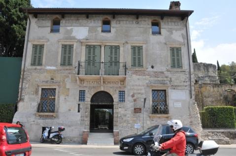 Il rinascimentale palazzetto Fontana ingresso ufficiale al Teatro Romano e al museo archeologico di Verona