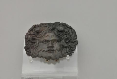 Applicazione in bronzo raffigurante il dio Oceano o un Tritone destinata a decorare la corazza della statua dell'imperatore