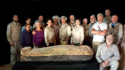 """I protagonisti del film """"Cercando Djehuty"""" di Javier Trueba e José Latova che apre il festival"""