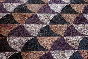 Dettaglio del mosaico restaurato fonte di ispirazione per i creativi di Bulgari